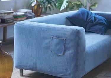 IKEA en MUD Jeans gebruiken gerecyclede spijkerbroeken voor bankhoes